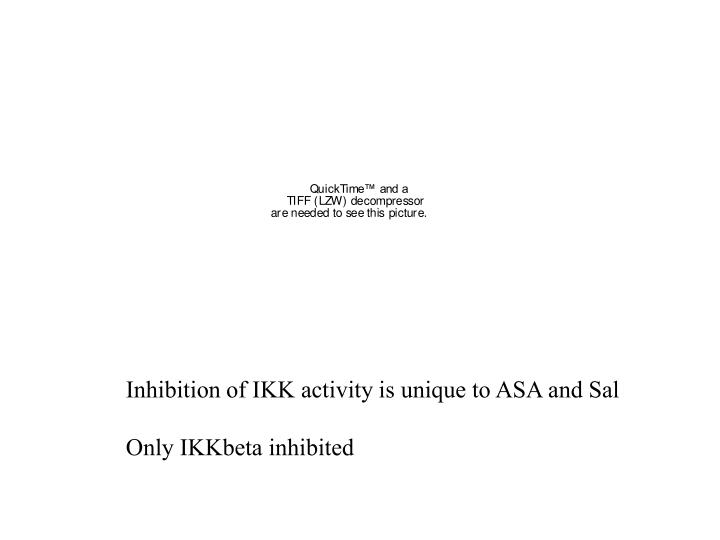 Inhibition of IKK activity is unique to ASA and Sal