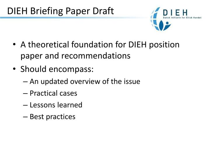 Dieh briefing paper draft