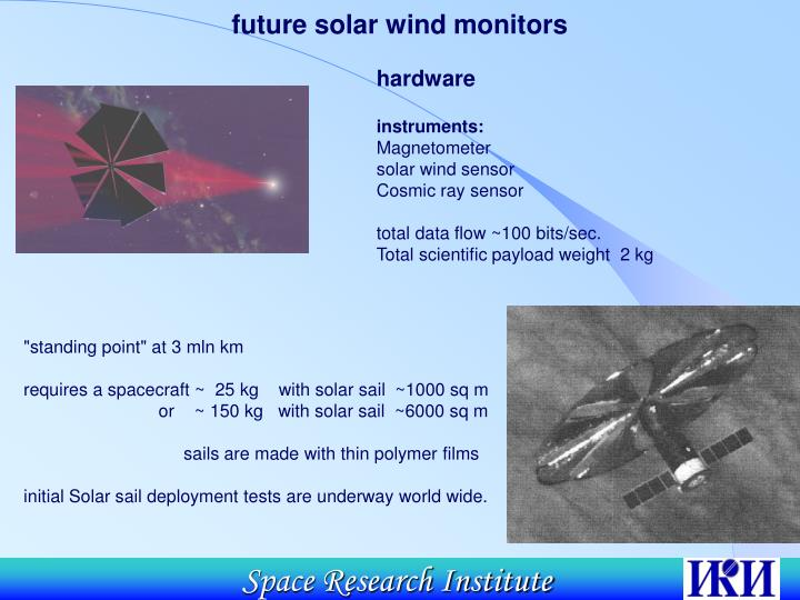 future solar wind monitors