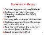 buckshot k means