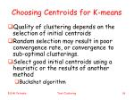 choosing centroids for k means