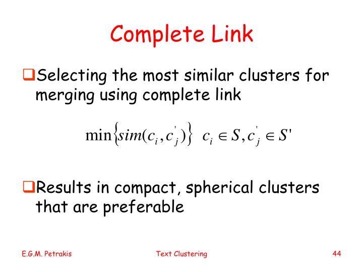 Complete Link
