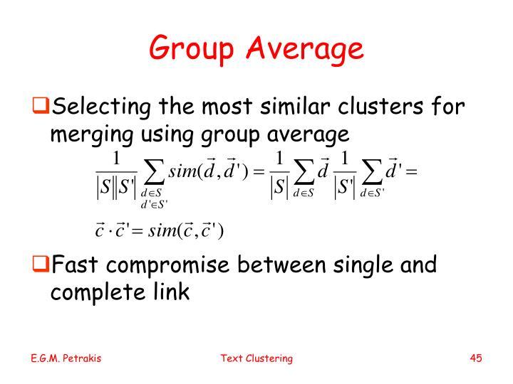 Group Average