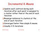 incremental k means