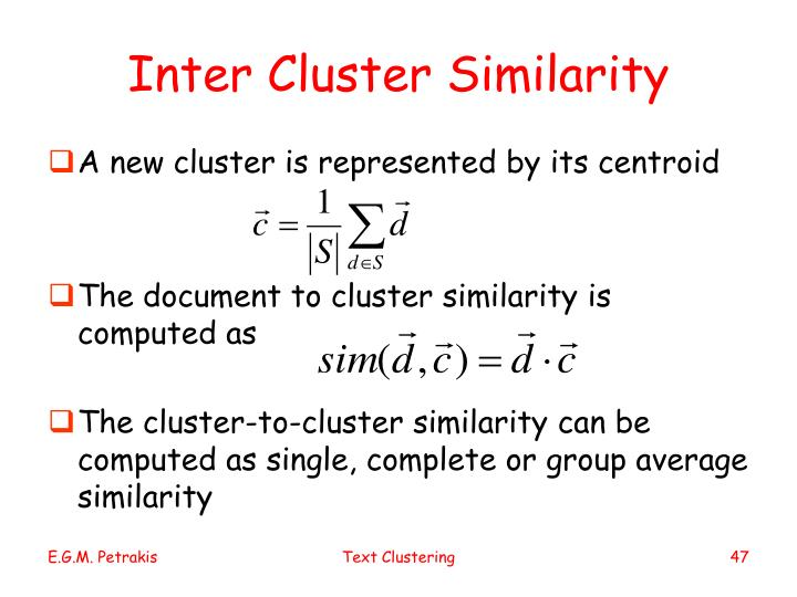 Inter Cluster Similarity