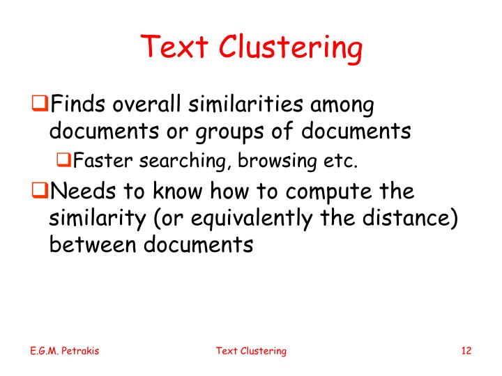 Text Clustering