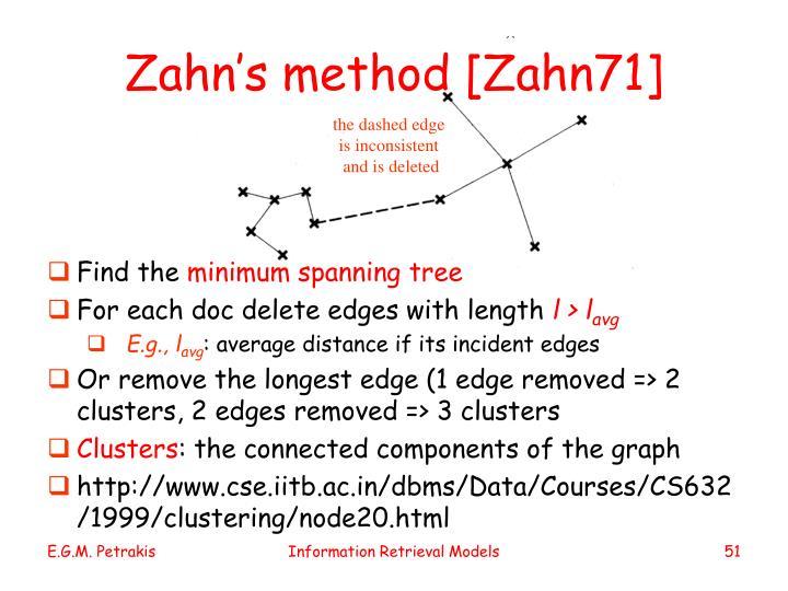 Zahn's method [Zahn71]