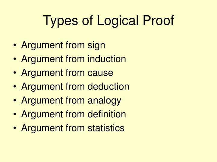 Types of Logical Proof