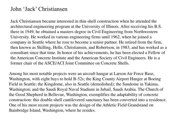 John 'Jack' Christiansen