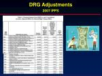 drg adjustments 2007 ipps
