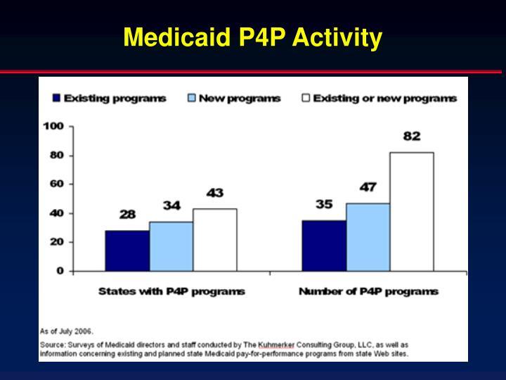 Medicaid P4P Activity