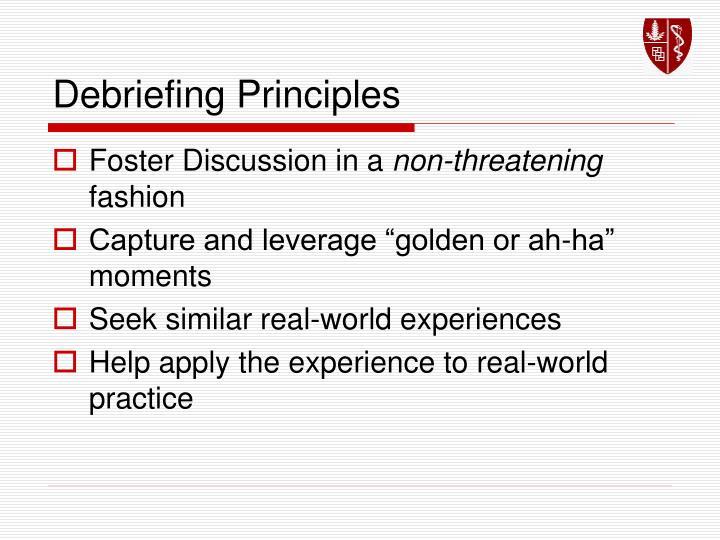Debriefing Principles