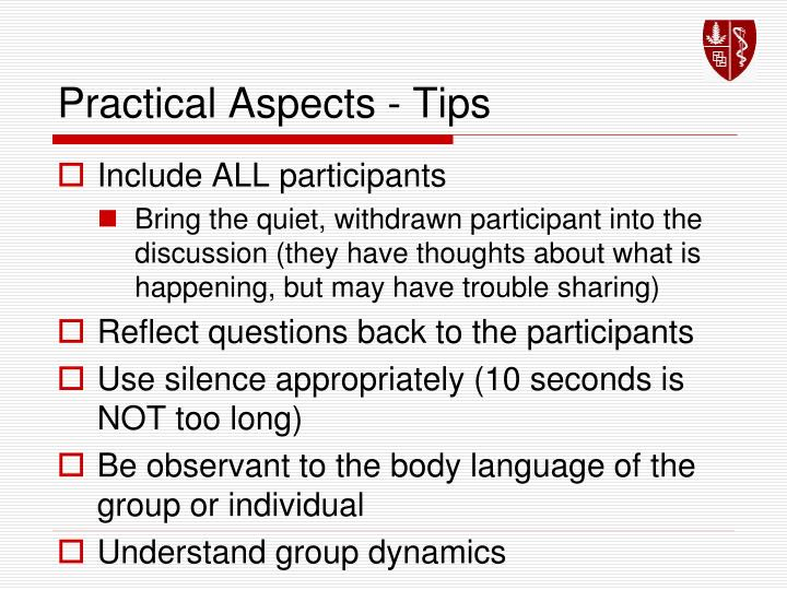 Practical Aspects - Tips