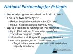 national partnership for patients