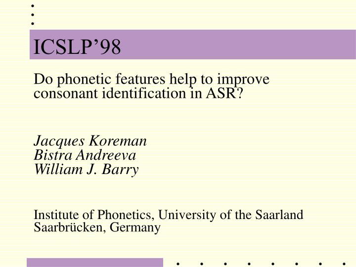 ICSLP'98