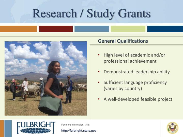 Research / Study Grants