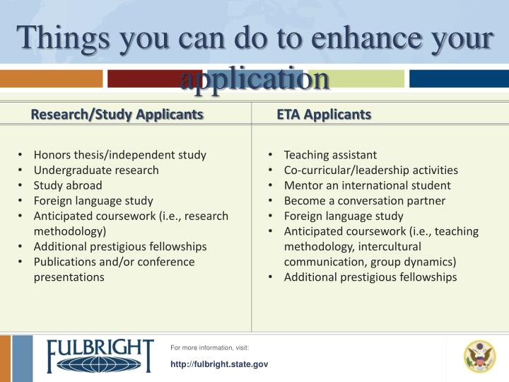 Things you can do to enhance your application
