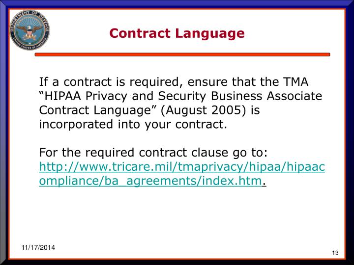 Contract Language
