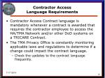 contractor access language requirements