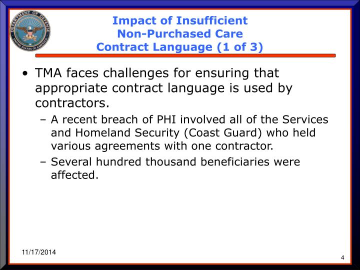 Impact of Insufficient