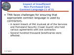 impact of insufficient non purchased care contract language 1 of 3