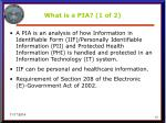 what is a pia 1 of 2