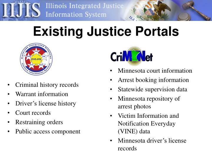 Criminal history records