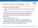 recovering service charges lvt