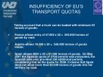 insufficiency of eu s transport quotas1