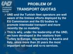 problem of transport quotas1