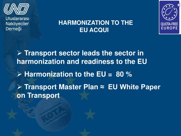 HARMONIZATION TO THE EU ACQUI