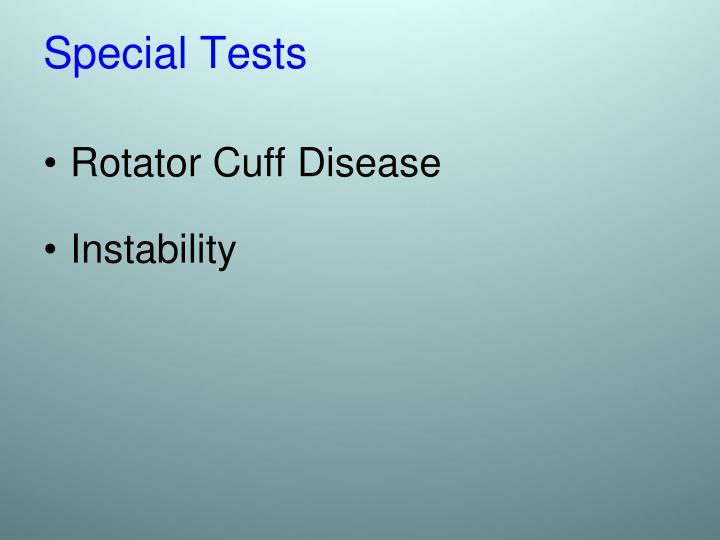 Rotator Cuff Disease