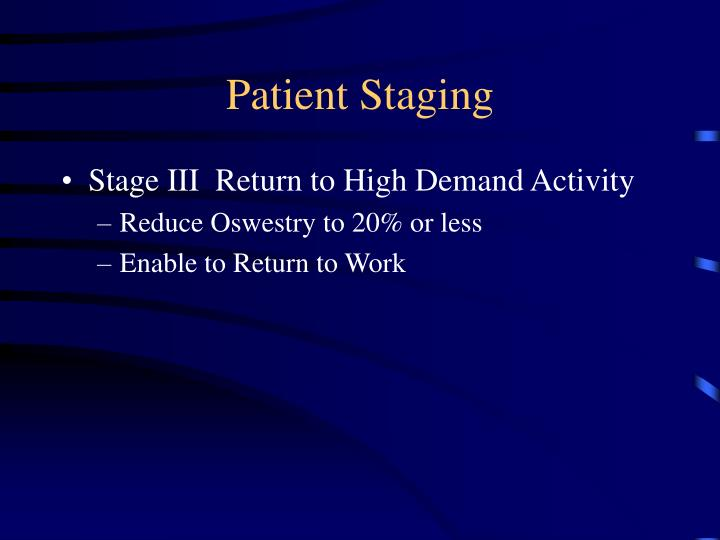 Patient Staging