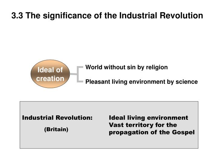 3.3 The significance of the Industrial Revolution