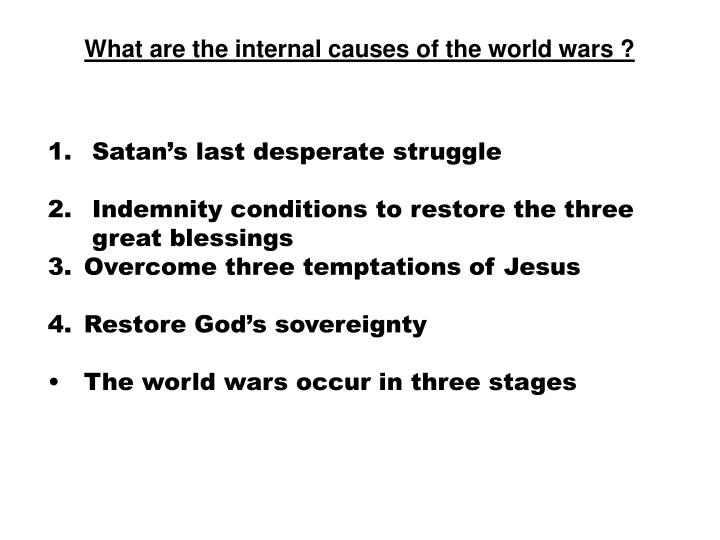 What are the internal causes of the world wars ?