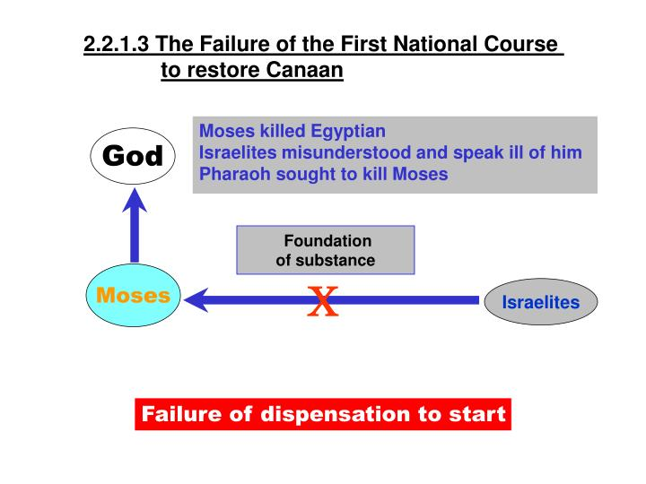 2.2.1.3 The Failure of the First National Course