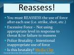 reassess