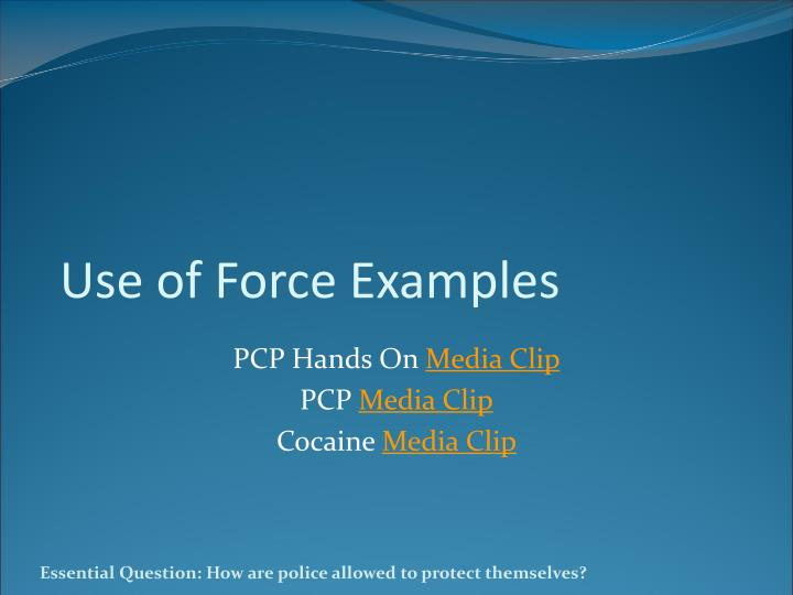 Use of Force Examples