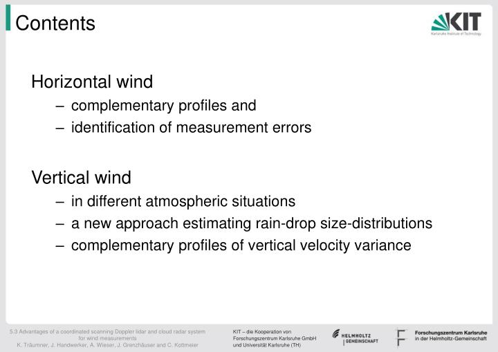 5.3 Advantages of a coordinated scanning Doppler lidar and cloud radar system