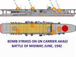 bomb strikes on ijn carrier akagi battle of midway june 1942