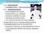 comparing forces cont d