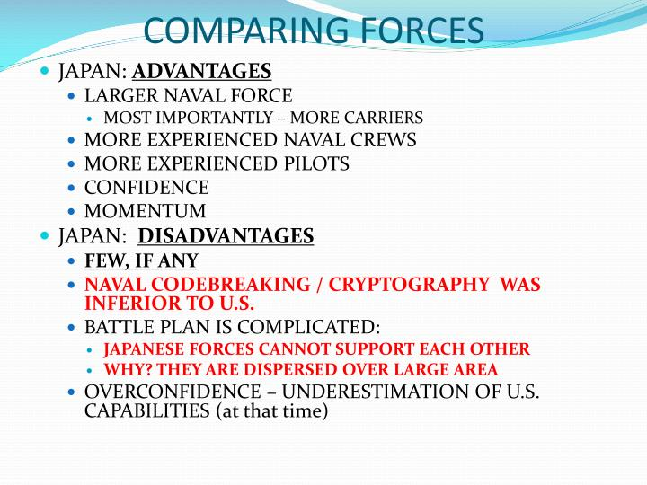 COMPARING FORCES