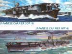 japanese carrier soryu japanese carrier hiryu