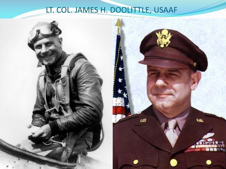 LT. COL. JAMES H. DOOLITTLE, USAAF