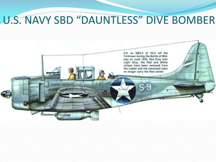 "U.S. NAVY SBD ""DAUNTLESS"" DIVE BOMBER"
