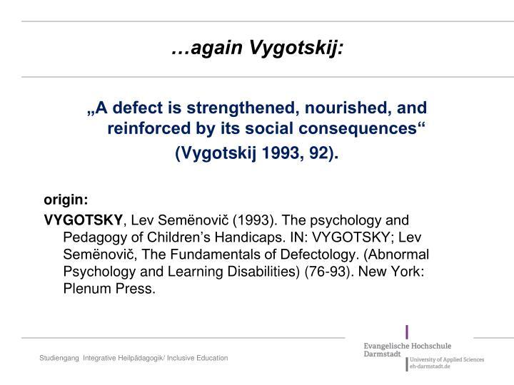 …again Vygotskij:
