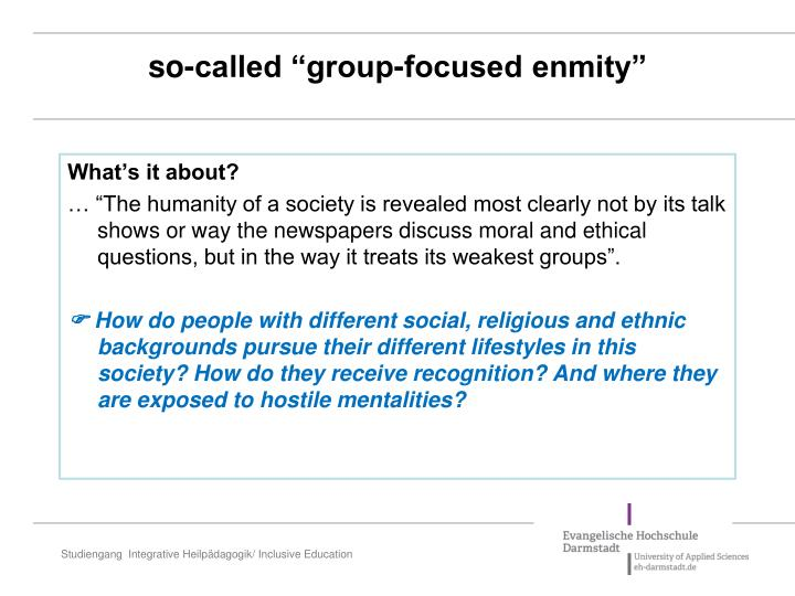 """so-called """"group-focused enmity"""""""