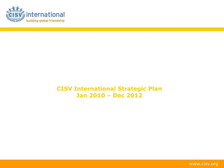CISV International Strategic Plan