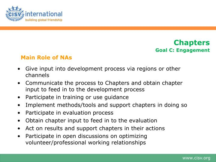 Main Role of NAs
