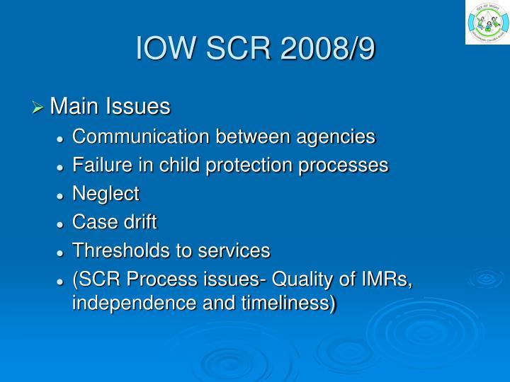 IOW SCR 2008/9